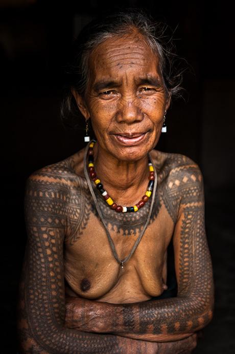 Ghan-nao, tattooed Kalinga woman