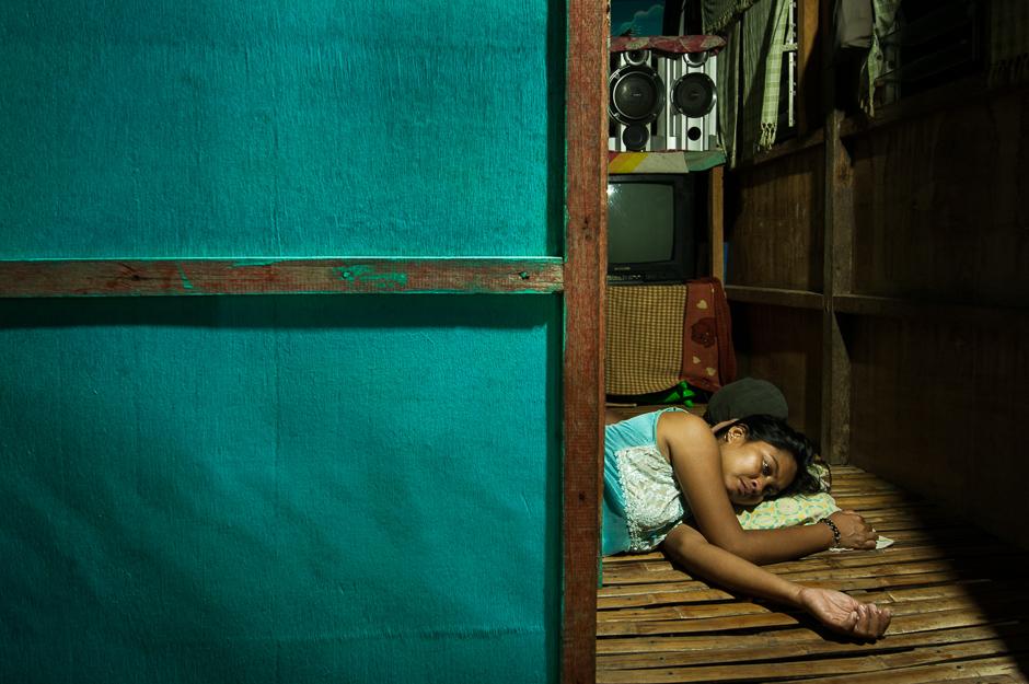 Sleeping Badjao woman