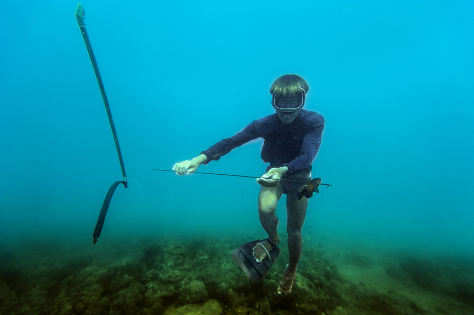Badjao fisherman with catch