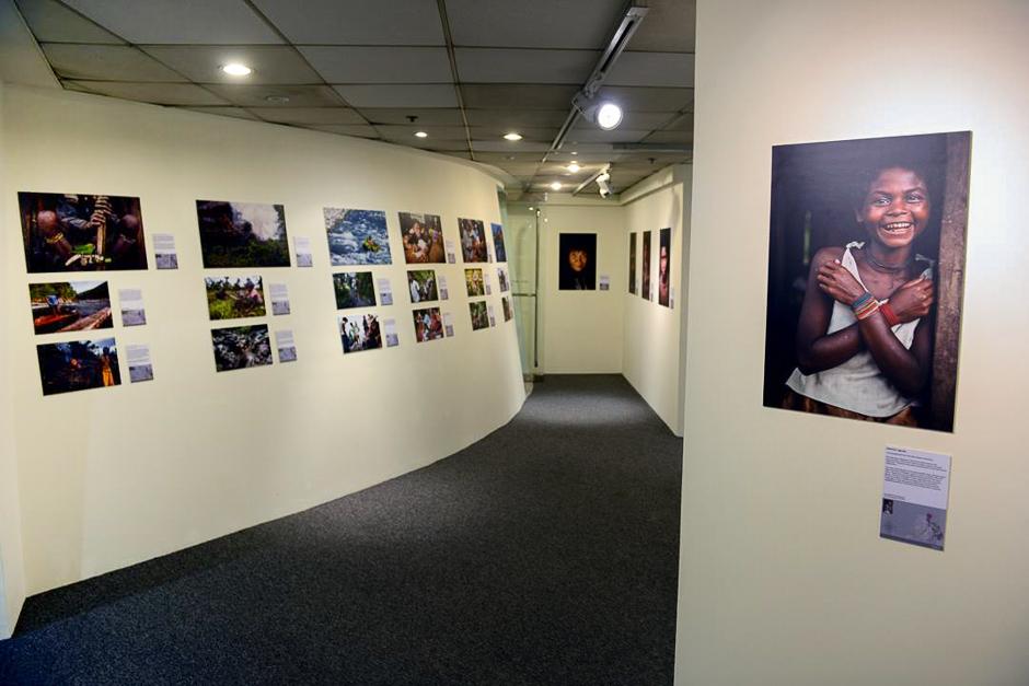 The upper level of the exhibit.