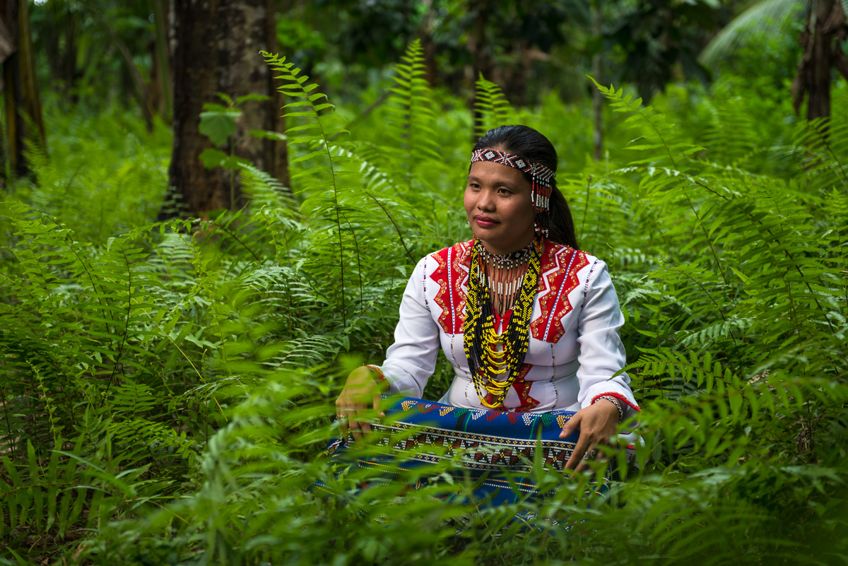 Portrait of a Mansaka woman from Tagum City