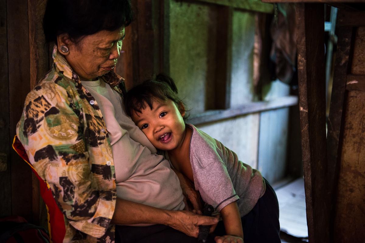Bia Dansigan watching over her grandchild