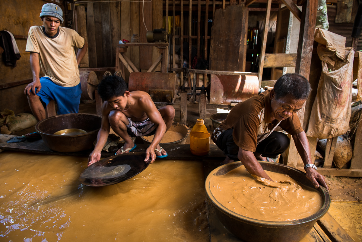 Small-scale gold mining
